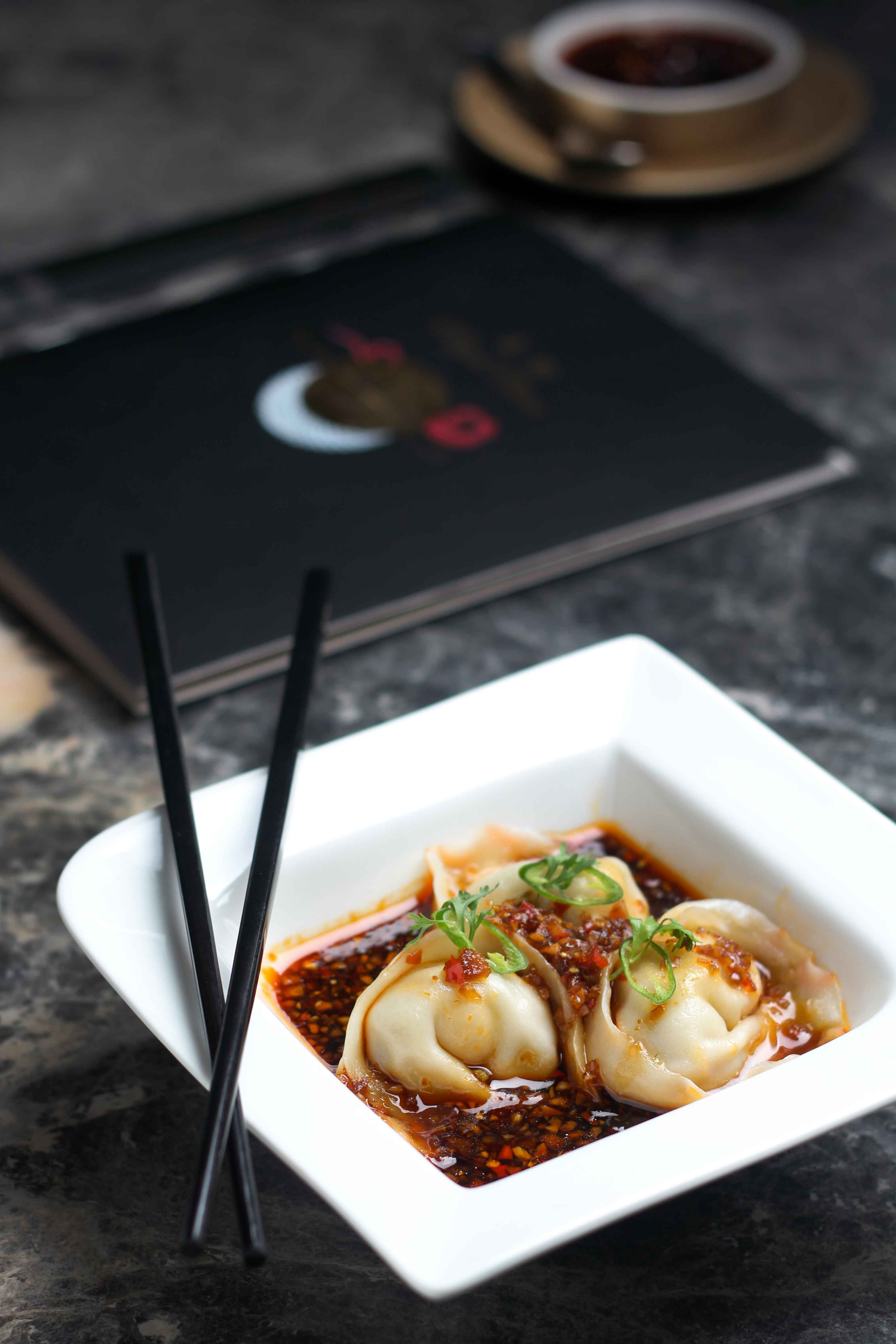 Steamed-Wontons-in-Soya-Chilli-Sauce